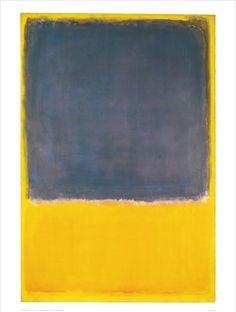 rothko blue   Rothko Blue Yellow Untitled 1950 (blue on yellow)