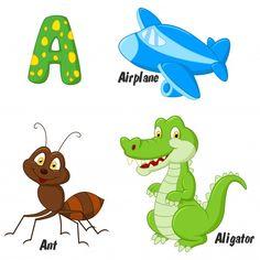 Bubble Alphabet, V Alphabet, Alphabet Phonics, Animal Alphabet, Zebra Cartoon, Cartoon Whale, Cartoon Elephant, Fish Vector, Dog Vector