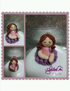 Chibi ballerina mini cake topper. By Sheila Marie Matienzo