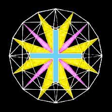 Cross of Light Diamond Diamant Schliff, drei Kreuze