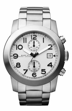 MARC BY MARC JACOBS 'Larry' Chronograph Bracelet Watch available at #Nordstrom