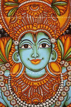 Kerala Mural Painting, Madhubani Painting, Pichwai Paintings, Indian Paintings, Frases Yoga, Painting Templates, Ganesha Painting, Madhubani Art, Indian Folk Art