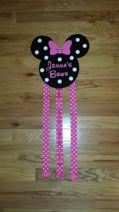 Minnie Mouse Bow Holder Temporarily Out Of by PinkPrincessCloset