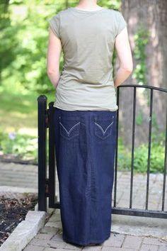 1741205288 Avery Modest Denim Skirt | Long Jean Skirt Sizes 8-18 Modest Denim Skirts,