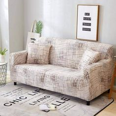 Discount This Month Stretch Sofa Cover All-inclusive Elastic Seat Couch Cover For Living Room Furniture Slipcovers fundas de sillones envio gratis Sofa Cushion Covers, Couch Covers, Cushions On Sofa, Pillow Covers, Throw Pillows, Loveseat Slipcovers, Sectional Sofa, Sofa Chair, Simple Sofa