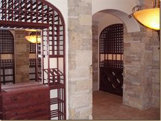 WINE CELLAR - INTERIOR STONE WALLS Wine Cellar, Stone Walls, Outdoor Structures, Interior Design, Furniture, House Ideas, Gardening, Home Decor, Basement