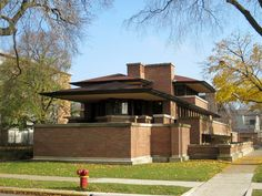 The-Frederic-C.-Robie-House is one of the many examples of Frank Wright.