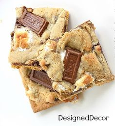 Tantalizing Tuesday - Recipe # 1-S'mores Cookies - Designed Decor
