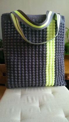 Crochet tote. Love this!
