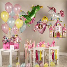 Shop for Bubblegum Balloons Princess Party Kit at ShopStyle. Princess Birthday Party Games, Dragon Birthday Parties, Birthday Party Games For Kids, Dragon Party, Dinosaur Birthday Party, Unicorn Party, Birthday Party Decorations, Birthday Ideas, 5th Birthday