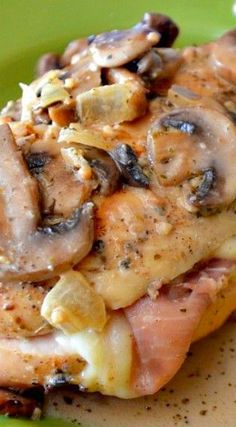 Stuffed Chicken & Creamy Mushroom Sauce