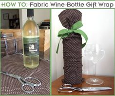 Etsy {NewYork} Street Team - Indie Artists, Artisans & Crafters of the NY Metro Region: HOW TO: Make a Fabric Wine Bottle Gift Wrap