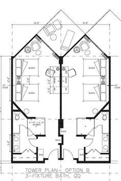 Hotel Room Floor Plans | Hard Rock Hotel - West Wing FloorPlans- Kingand Queens
