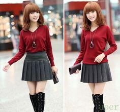 Women Retro Wool Mini Skirt  Pleated High Waist School Uniform Style Bandage Skirt Hot Selling