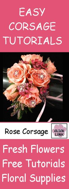 FREE TUTORIALS  http://www.wedding-flowers-and-reception-ideas.com/make-your-own-wedding.html  Learn how to make corsages, boutonnieres, centerpieces, wedding bouquets and church wedding decorations!  Buy wholesale flowers and professional florist supplies