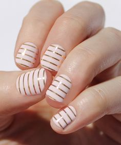 This Light Pink With Gold Stripes Nail Wraps - Set of Two by So Gloss Nail Wraps is perfect! #zulilyfinds