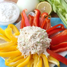Lightly seasoned and packed with lean protein this is chicken salad perfection that you can feel good about eating. Mayo free Chicken Salad recipe from Chicken Salad Recipes, Healthy Chicken, Salad Chicken, Yogurt Chicken, Tuna Salad, Egg Salad, Fruit Salad, Healthy Snacks, Healthy Eating