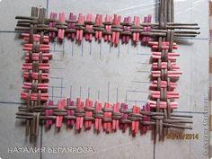 Поделка изделие Плетение МК моего варианта плетения фоторамки Бумага газетная Трубочки бумажные фото 4