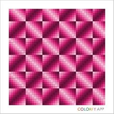 Rose Ombre Bargello Patterns, Bargello Needlepoint, Bargello Quilts, Perler Patterns, Crochet Patterns, Graph Paper Drawings, Graph Paper Art, Quilting Tips, Quilting Projects