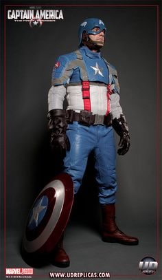 Captain America Motorcycle suit.  Awe. Some.