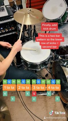 Drum lesson: how to play the infamous Rosanna half time shuffle in 30 seconds // Jeff Porcaro Music Lessons For Kids, Music Lesson Plans, Drum Lessons, Drum Sheet Music, Drums Sheet, Learn Drums, How To Play Drums, Samba Drums, Jeff Porcaro