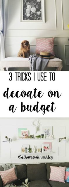 3 tricks I use to decorate on a budget - at home with Ashley