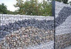 50 Gorgeous Gabion Fence Design for Garden Ideas - Zaun Front Yard Fence, Farm Fence, Backyard Fences, Garden Fencing, Garden Landscaping, Landscaping Ideas, Small Fence, Fence Art, Pool Fence