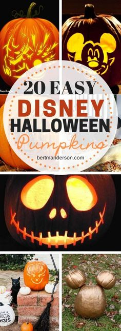 It's a lot easier than it looks to get these Disney-inspired pumpkins for your doorstep. Disney Halloween Costumes, Halloween Party Decor, Halloween Crafts, Halloween Ideas, Disney Pumpkin Stencils, Disney Pumpkin Carving, Disney Diy, Disney Crafts, Disney Trips