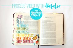 Natalie Elphinstone | Fruits of the Spirit Process Video on Illustrated Faith