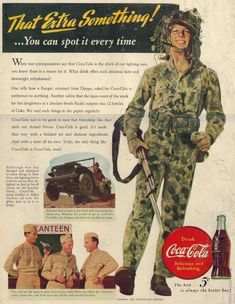 5¢  Coca-Cola <> When war correspondents say Coca-Cola is the drink of our fighting men, . .  .