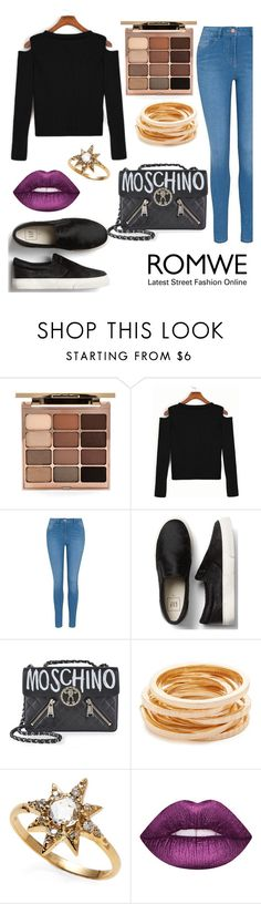"""""""Untitled #186"""" by hummingbirds-heartbeats ❤ liked on Polyvore featuring Stila, George, Moschino, Kenneth Jay Lane and Anzie"""