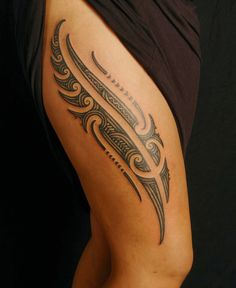 Creative Maori Tattoo Ideas for Leg 2016