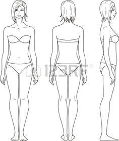5517a1688e083 female body outline - Google Search