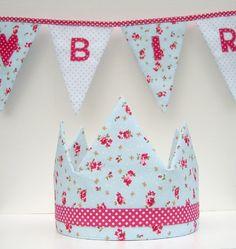 """Geburtstags-Set """"Hellblau-Pink mit Herz"""" von Atelier Kreatissimo auf DaWanda.com"""