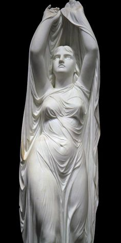 "drape sculpture: ""Ondine, coming out of water"" 1880 by Chauncey Bradley Ives; see it at Yale Univ."