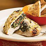 Pork Chops Stuffed with Feta and Spinach Recipe | MyRecipes.com