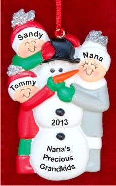 Grandmother: My 2 Grandkids & Me  Personalized Christmas Ornament