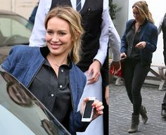 Hilary Duff leaving Cecconi restaurant via the back door in Los Angeles, California, on January 30, 2014