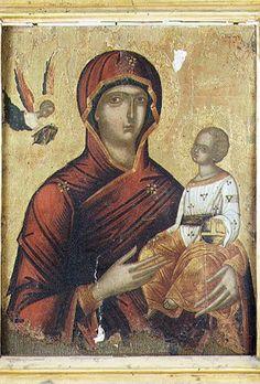 BeWeB - Opera : Ambito bizantino sec. XV, Dipinto della Madonna con Bambino