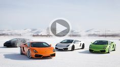 Watch top gear drift Gallardos on ice!