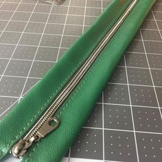 Admiring the new @pfitzsewswell gunmetal metallic finish zipper in a Basil green leather zipper panel! Check it out at http://ift.tt/2j2LkBz  . . . . #pfitzsewswelloriginal #handcraftedcouture #neverfitsoswell  #handmade #imakebags #bagmaker #sewallthebags #handmadeintheusa #handcraftedintheusa #customorder #sleek #oneofakind #handmadeforyou #handcrafted #handmadebag #handmadehobo #pfitzsewswell #smallbusiness #entrepreneuerlife #psshardware #psszipper - http://ift.tt/1HQJd81