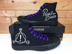 Panic! at the Disco High Top Converse #panicatthedisco #converse #customconverse #fashion #personalised #gifts #shopping #shoes #chucks