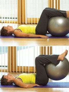Exercise Ball Workout another one for the back and abs