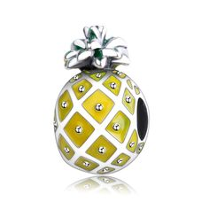 Sterling & Enamel Pineapple Bead