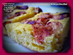 Réka alakbarát receptjei - szénhidrátcsökkentett, bűntelen finomságok: Túrós-almás sütemény kókuszliszttel Hawaiian Pizza, French Toast, Cookies, Breakfast, Food, Crack Crackers, Morning Coffee, Biscuits, Essen