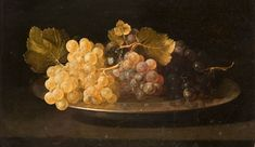 """Francisco de Zurbarán, """"Plato con uvas"""", españa, 1639"""