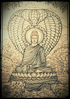 Lord Buddha and snakes