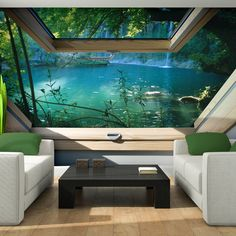 VLIES Tapete Fototapeten Tapeten Fenster Blick 3D Wasser Wald Natur 14N10410VE FOR SALE • EUR 34,90 • See Photos! Money Back Guarantee. SONDERANGEBOT FOTOTAPETE MODELL:10410 SCHNÄPPCHENPREIS! 152663234658