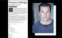 About.me account created for Actor Dustyn Gulledge.