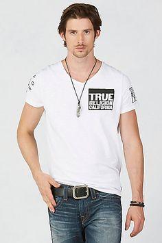 MULTI LOGO BUDDHA MENS T-SHIRT - True Religion